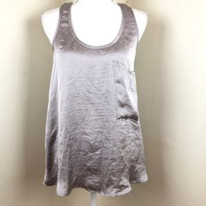 She Me Your Mumu Silvery Racer Back Tank Top XS